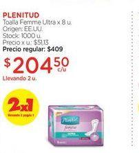 Oferta de PLENITUDToalla Femme Ultra x 8 u. por $204,5