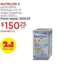 Oferta de NUTRILON 3Leche Infantil Profutura x 1 lt. por $150,25