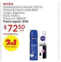 Oferta de NIVEADesodorante en Aerosol x 150 ml. por $72,5