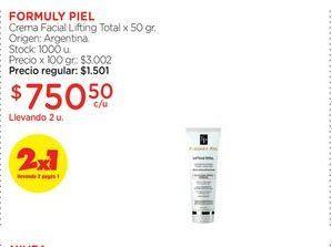 Oferta de FORMULY PIELCrema Facial Lifting Total x 50 gr. por $750,5
