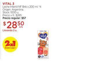 Oferta de VITAL 3Leche Infantil NF Brik x 200 ml. por $28,5