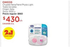 Oferta de CHICCO	Chupete Nena/Nene Physio Light. por $430