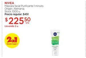 Oferta de NIVEAMáscara facial Purificante 1 minuto. por $225,5