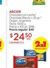 Oferta de ARCORChocolate con Leche/Chocolate Blanco x 25 gr. por $24,5