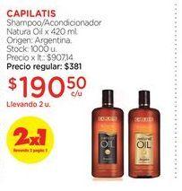 Oferta de Shampoo/Acondicionador Natura Oil x 420 ml. CAPILATIS  por $190,5
