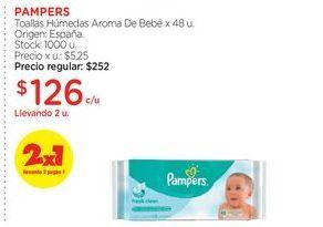 Oferta de PAMPERSToallas Húmedas Aroma De Bebé x 48 u. por $126