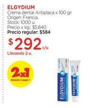 Oferta de ELGYDIUMCrema dental Antiplaca x 100 gr. por $292