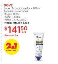 Oferta de Super Acondicionador x 170 ml.  Dove por $141,5
