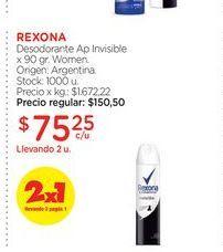 Oferta de REXONADesodorante Ap Invisible x 90 gr. por $75,25