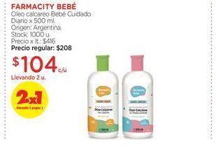 Oferta de FARMACITY BEBÉOleo calcareo Bebé Cuidado Diario x 500 ml. por $104