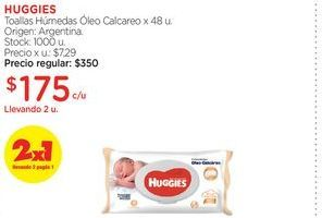 Oferta de HUGGIESToallas Húmedas Óleo Calcareo x 48 u. por $175