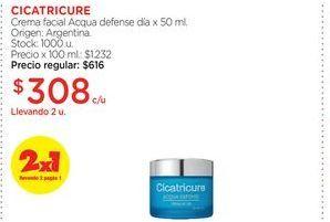 Oferta de Crema facial Acqua defense día x 50 ml. Cicatricure por $308