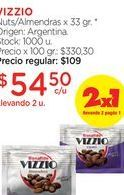Oferta de VIZZIONuts/Almendras x 33 gr. por $54,5
