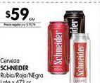 Oferta de Cerveza Schneider 473cc por $59