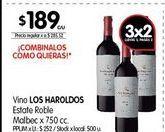 Oferta de Vino Los Haroldos 750cc por $189