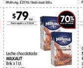 Oferta de Leche chocolatada MILKAUT 1LT por $79