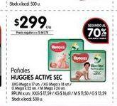 Oferta de Pañales Huggies Sec por $299