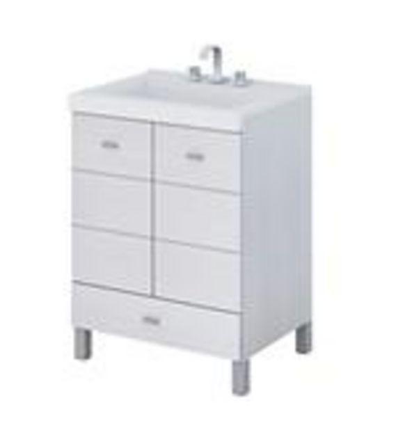 Oferta de Vanitory con mesada Terra Matrix Schneider 50x84cm blanco 1 orificio V50TMLQB por $15967,43