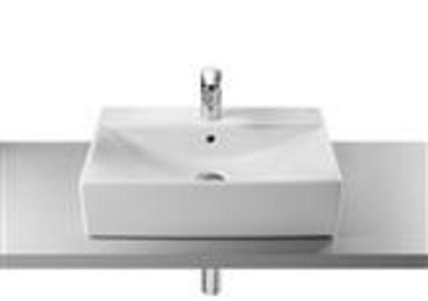 Oferta de Bacha de sobre poner Diverta Roca 47x44cm 1 orificio blanco por $34085,19
