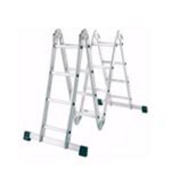 Oferta de Escalera Plegable Aluminio Lusqtoff 4 tramos 4X4 4.70M LQ por $13530,32