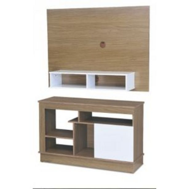 Oferta de Rack MAXIMO Siena Nogal/Blanco + Panel TV por $11194