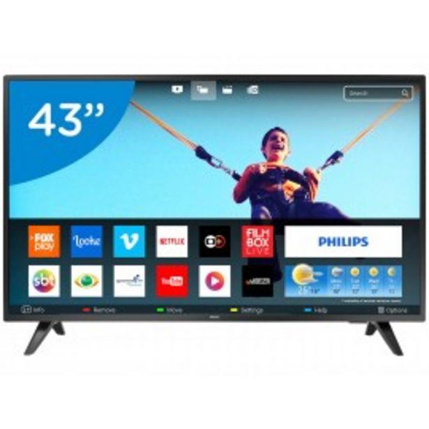 "Oferta de SMART TV 43"" PHILIPS FULL HD 43PFG5813/77 por $48999"
