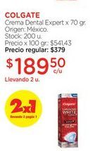 Oferta de COLGATECrema Dental Expert x 70 gr. por $189,5