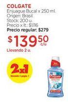 Oferta de COLGATEEnjuague Bucal x 250 ml. por $139,5