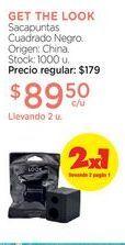Oferta de GET THE LOOKSacapuntas Cuadrado Negro. por $89,5