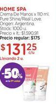 Oferta de HOME SPACrema De Manos x 110 ml. por $131,25
