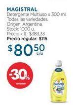 Oferta de MAGISTRALDetergente Multiuso x 300 ml. por $80,5