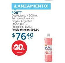 Oferta de POETTDesifectante x 900 ml. por $76,4