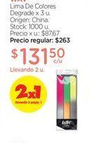 Oferta de WAVLima De Colores Degrade x 3 u. por $131,5