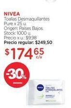 Oferta de NIVEAToallas Desmaquillantes Pure x 25 u. por $174,65