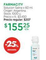 Oferta de FARMACITYSolucion Salina x 60 ml. por $155,25