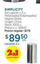 Oferta de SIMPLICITYSet Lapices x 3 u. por $89,5