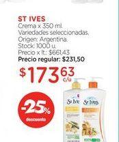 Oferta de ST IVESCrema x 350 ml. por $173,63