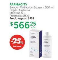 Oferta de FARMACITYSolucion Multiaccion Express x 500 ml. por $566,25