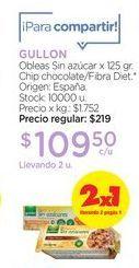 Oferta de GULLONObleas Sin azúcar x 125 gr. por $109,5