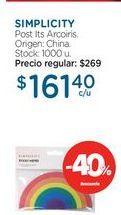 Oferta de SIMPLICITYPost Its Arcoiris. por $161,4