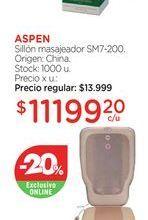 Oferta de ASPENSillón masajeador SM7-200. por $11199,2