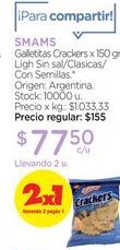 Oferta de SMAMSGalletitas Crackers x 150 gr. por $77,5