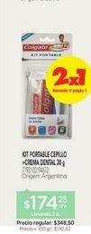Oferta de COLGATEKit Cepillo portable + Crema 30 gr. por $174,25