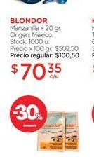 Oferta de BLONDORManzanilla x 20 gr. por $70,35