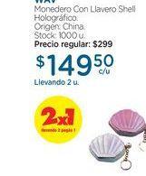 Oferta de WAVMonedero Con Llavero Shell Holográfico. por $149,5