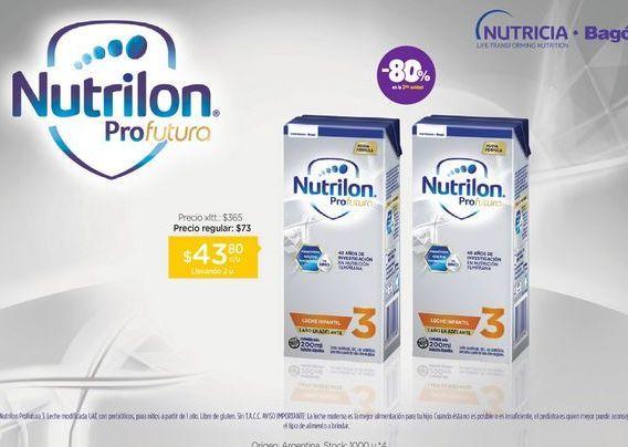 Oferta de NUTRILON 3Leche Infantil Profutura Brik X 200 Ml por $43,8