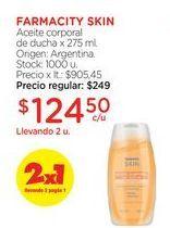 Oferta de FARMACITY SKINAceite corporal de ducha x 275 ml. por $124,5