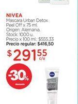 Oferta de NIVEAMascara Urban Detox Peel Off x 75 ml. por $291,55