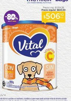 Oferta de VITALLeche Infantil en Polvo con Vitamina C X 800 Gr. por $506,1