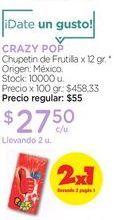 Oferta de CRAZY POPChupetin de Frutilla x 12 gr. por $27,5